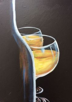 Culinary Classes, Wine Painting, Wine Art, White Wine, Bordeaux, White Wines, Bordeaux Wine