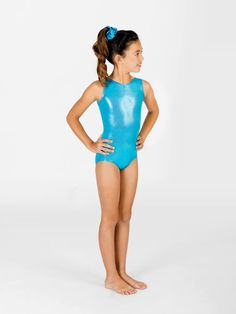 Free Shipping - Child Metallic Gymnastic Tank Leotard by PERFECT BALANCE