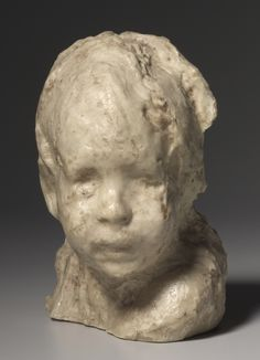 Medardo Rosso (Italy 1859-1928), The Jewish Boy, wax on plaster, c. 1892. Collection Cleveland Museum of Art, Cleveland, Ohio.