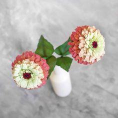 Zinnia fiore singolo fiori di carta crespa di LemonadePaperFlowers