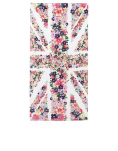 Floral Union Jack Beach Towel | Multi | Accessorize