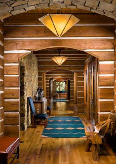 The Tunken is a mountain rustic log cabin that has been designed by Pioneer Log Homes, nestled on 160 acres of pristine wilderness in Hamilton, Montana