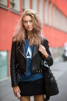Anna Zanovello #MFW SS15 #streetstyle #model