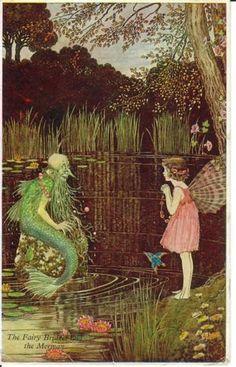 'The Fairy Bridget and the Merman' - Ida Rentoul Outhwaite