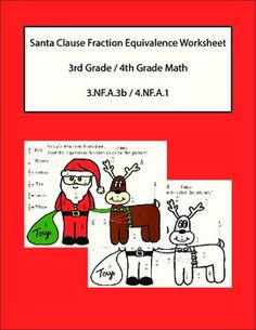 FRACTION FREEBIE FOR CHRISTMAS SIMPLIFY AND DECODE WORKSHEET