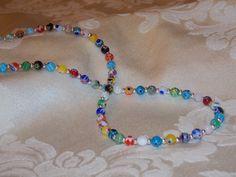 Millefiori Necklace by EriniJewel on Etsy, $25.00