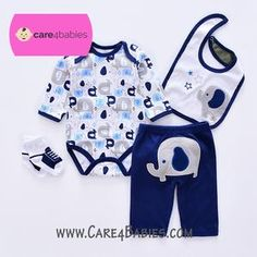 $17.50 Infant Baby Boy Elephant Navy Blue Rompers Trousers Socks BibTo Buy PM Us or Visit Us At https://www.care4babies.com/products/infant-baby-boy-elephant-navy-blue-rompers-trousers-socks-bib#infantbabyboyelephantnavyblueromperstrouserssocksbib #clothingboys #babyboyclothing #cuteinfantboyclothes #newbornboyclothes