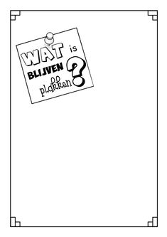 WAT IS ER BLIJVEN PLAKKEN?: Aan het bord hangt een groot papier, met de vraag 'wat is er blijven plakken?' op. De lln krijgen post-its waarop ze hun antwoord mogen schrijven en op dat papier kleven. VARIATIE 1) Dit kan over de leerinhoud gaan van een les. VARIATIE 2) Zeg duidelijk dat het om de dingen gaat die ze gedaan hebben Bv: rekenspelletje is bijgebleven. Laat ze achteraf eventueel uitleggen waarom dit bijgebleven is. BRON; https://nl.pinterest.com/pin/420805158905001534/
