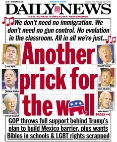 New York Daily News front pages on the presidential election