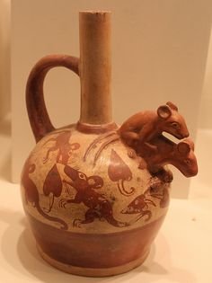 Moche sculptural bottle