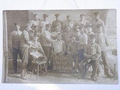 Foto AK Rasiersalon II.B. Rekruten um 1915
