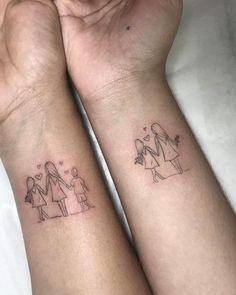 Mini Tattoos, Mutterschaft Tattoos, Mommy Tattoos, Mother Tattoos, Family Tattoos, Sister Tattoos, Body Art Tattoos, Small Tattoos, Tattos