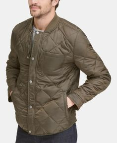 Men/'s U.S Polo ASSN Green Diamond Quilted Lightweight Jacket CLEARANCE PRICE