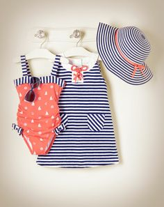 Nautical Swimsuit & Dress... So freakin cute!
