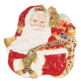 "Found it at Wayfair - Damask Holiday Santa Face Canape 12"" Plate"