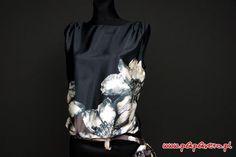 Gotowy wykrój - bluzka z kwiatem