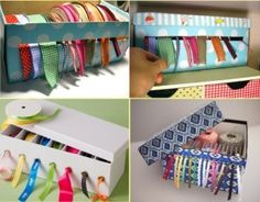 Reusing shoes box to organize your home 2