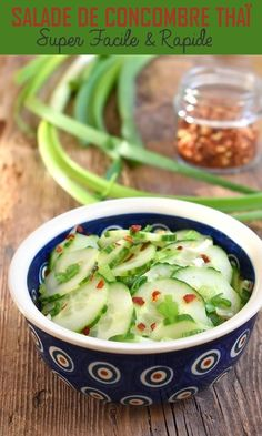 This super quick and easy to prepare Thai cucumber salad is delicious. Spicy and refreshing, this Asian salad recipe is a delight for the taste buds! Thai Cucumber Salad, Food Inc, Brunch Buffet, Asian Recipes, Ethnic Recipes, Raspberry Cake, Fun Cooking, Summer Recipes, Chicken Recipes