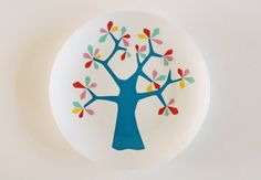 The colorful tree plate