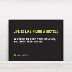 A little cycling life mixed + some Forrest Gump =  a great print  Life is…, $26, now featured on Fab.