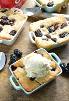 My favorite summer cobbler recipe! Fresh blackberries are piled right on top of an easy batter that will rise up right over them as it bakes. A classic recipe to keep on hand!