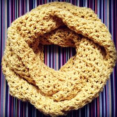 Crochet a V-Stitch Infinity Scarf FREE Pattern