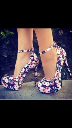 Floral Print Pumps- Please follow me it is my Birthday. if I get above 25 followers I will upload more pins. Plzzzz follow today