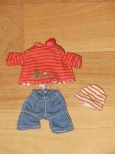 Mini Baby born miniworld 11 cm - Ringelshirt + Jeans - SEHR SELTEN / RAR