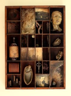 """Elixer, 2012 by Susan Clinard what a surprise """"aged"""" assemblage art... Why can't my favorite art form diversify a bit?"""