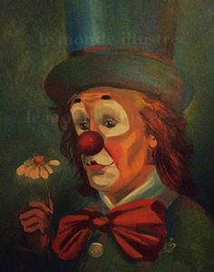 clown triste - Recherche Google Le Clown, Circus Clown, Clown Paintings, Clowning Around, Clowns, Jokers, Fun, Color, Image