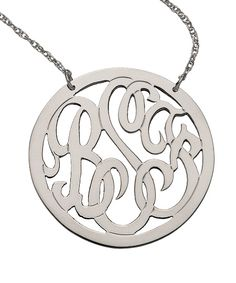 Monogram Necklace | Max & Chloe - When I have a new last name? KNIPP