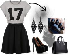 """17 Black"" by hipsterfever on Polyvore"