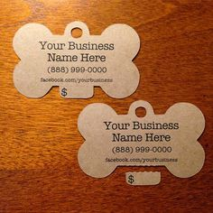 Custom Kraft Dog Bone Perforated Tear Off Price Tags  by Kraftcuts