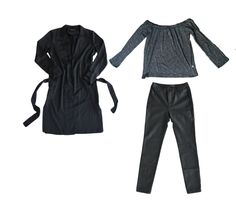 Winter style   off the shoulder    leather pants   capsule wardrobe