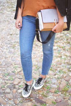 skinny jeans and sneakers | TheFashionablyBroke.com