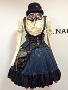 Resultado de imagen de steampunk skirts and dresses