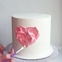 Do you know this technique? Buttercream Cake Decorating, Cake Decorating Designs, Creative Cake Decorating, Wilton Cake Decorating, Cake Decorating Videos, Birthday Cake Decorating, Cake Decorating Techniques, Creative Cakes, Cake Birthday
