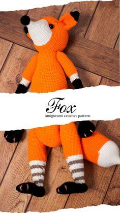 Crochet Dinosaur Patterns, Amigurumi Patterns, Baby Patterns, Crochet Patterns, Crochet Fox, Cute Crochet, Crochet Ideas, Baby Dinosaurs, Fox Pattern