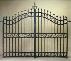 disenos de cercas | ... diseño de hierro forjado principal cerca de la puerta de diseño
