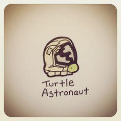 Turtle Astronaut #turtleadayjune - @turtlewayne- #webstagram