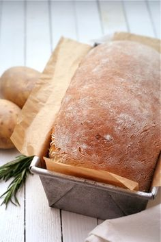 Potato, Cheddar, and Rosemary Bread.  With all the great bakeries in my city, enjoying good artisan bread is pretty easy. But if I were to go to the effort of making my own bread, this would be something I'd want to make :)