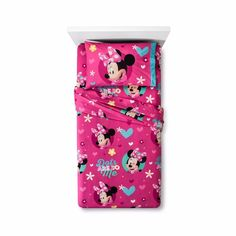 Disney Junior Minnie Mouse 3 Piece Twin Sheet Set Microfiber Flannel. Your little one will love crawling in to the Disney Mickey and MInnie Twin Flannel Sheet Set in Pink. Extra cozy with smiling faces and bright colors, these sheets will add a playful touch to her room, making bedtime more fun every night. | eBay!