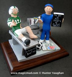 Knee Surgeon's Gift  www.magicmud.com    1 800 231 9814    magicmud@magicmud.com $225  Personalized #Medical Gift Figurines, custom created just for you!    Perfect present for all #Doctors, a  heartfelt gift for birthdays, graduations, anniversaries, new office openings, retirement, as a thank you to a great #physician  Surgeon, cardiologist, therapist, nurse, ob-gyno, podiatrist, psychiatrist, nephrologist, urologist, radiologist, any occupation made to to order by #magicmud