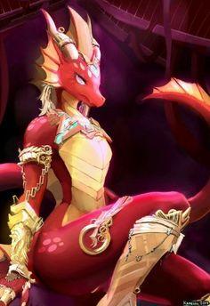 Hoard of the Dragon Queen Furry Pics, Furry Art, Lizard Girl, Anthro Dragon, Furry Wolf, Dragon Girl, Red Dragon, Anime Furry, Furry Drawing