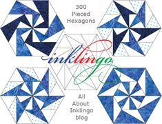 Inklingo Pieced Hexagons - No more English Paper Piecing! These are easy with Inklingo.