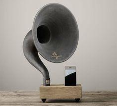 Um gramofone acústico para o seu iPad ou iPhone!