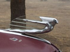 Art Deco hood ornament from 1937 Cadillac