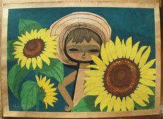 Ikeda Shuzo: Sunflowers — ひまわり - Japanese Art Open Database