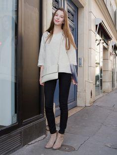 大人の女性らしいベーシックな色の組み合わせ♡参考にしたいブーツのコーデ・スタイル・ファッション♪