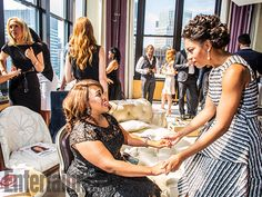 Betsy Beers, Chandra Wilson, and Kelly McCreary - Shondaland photo shoot -  Behind the scenes with Grey's Anatomy, Scandal, How to Get Away With Murder casts - EW.com